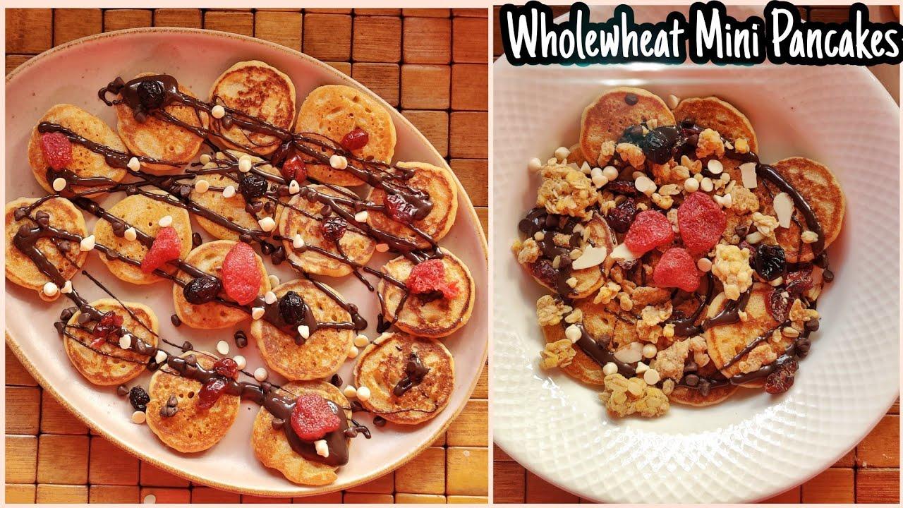 Wholewheat Mini Pancakes | Mini pancakes cereal