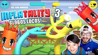 Lucha de Globos Locos 3 | Inflatality Family Gaming | Juegos Karim Juega
