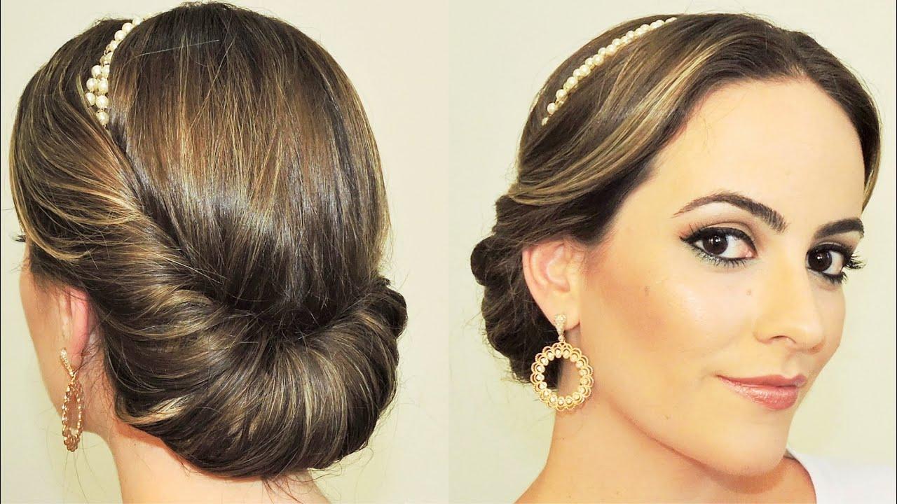 penteados fáceis tiara