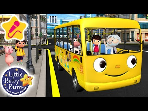 Wheels on The Bus Original | KARAOKE for Kids + More Nursery Rhymes & Kids Songs | Little Baby Bum