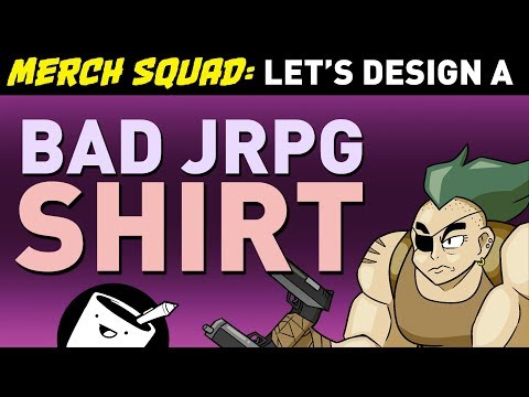 Artists Design Bad JRPG Shirts