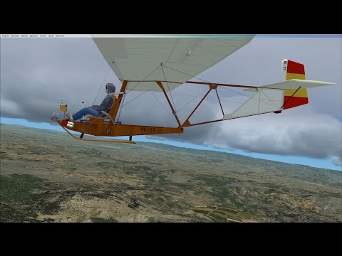 FSX vintage glider cross-country flight in Mexico Part 1