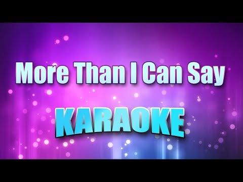 Sayer, Leo - More Than I Can Say (Karaoke Version With Lyrics)