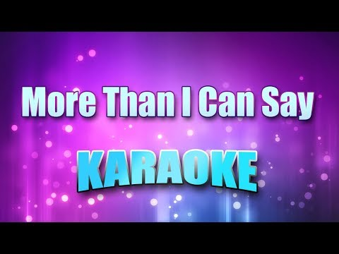 Sayer, Leo - More Than I Can Say (Karaoke version with Lyrics) Mp3