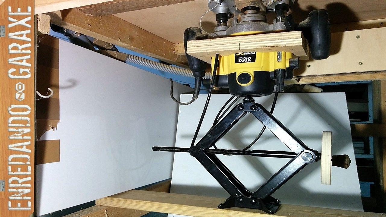 Sencill simo sistema de elevaci n para mesa fresadora for Mesa para fresadora