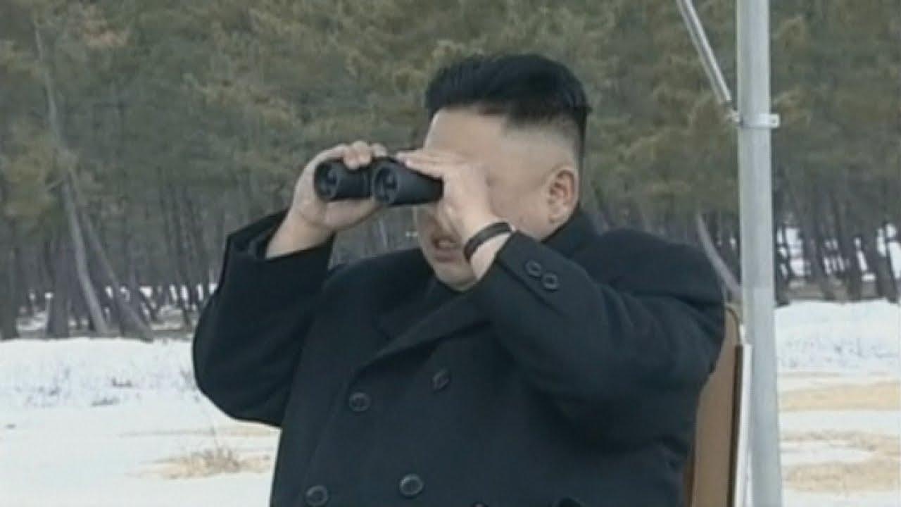Rare footage of North Korean leader Kim Jong Un judging artillery shooting contest