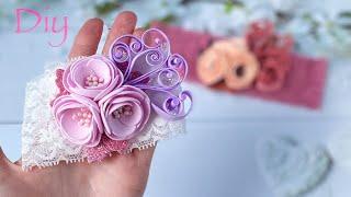 Повязка с цветами из фоамирана Украшения своими руками Diy Cute Flower Baby Headband Eva Foam Sheets