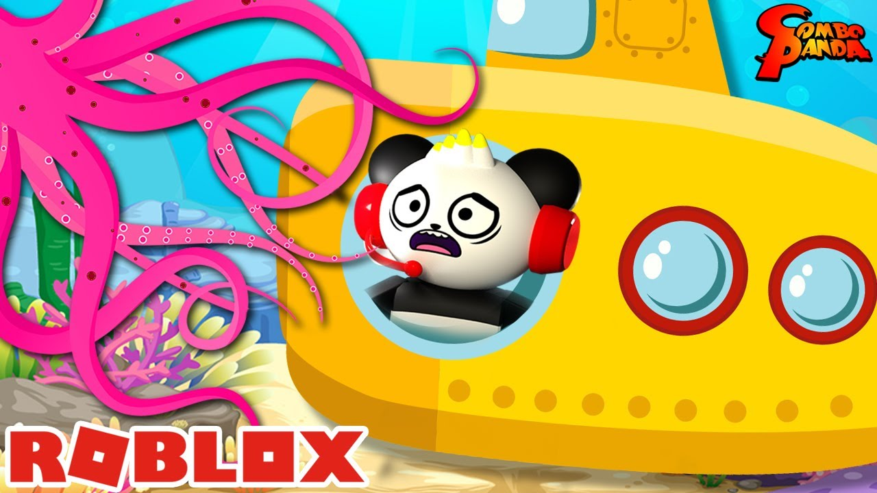 Escape Submarine Story in ROBLOX! Let's Play with Combo Panda