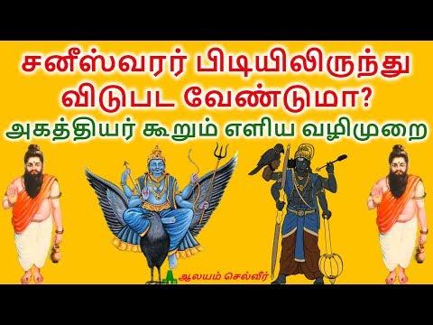 சனீஸ்வரர் பிடியிலிருந்து விடுபட வேண்டுமா? அகத்தியர் கூறும் எளிய வழிமுறை | Shani Dosham In Tamil