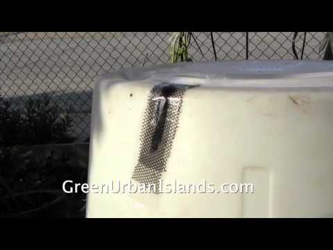 Fixing A Barrel to Make A Hydroponic Reservoir  ---  $6