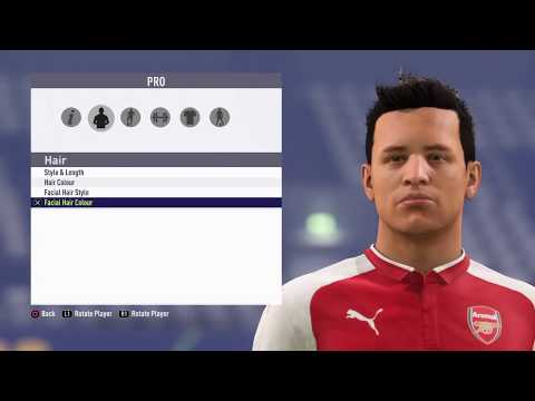 FIFA18 Pro Clubs Game Face Alexis Sanchez Look Alike