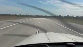 Float in Ground Effect Piper Tomahawk Florida Pilot Center Sebastian Airport Long Landing