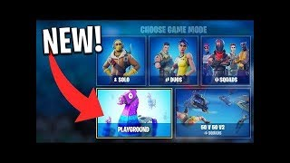 *NEW* LTM MODE *PLAYGROUND MODE* OFFICIAL RELEASE!!! Fortnite Battle Royale  *LIVE*