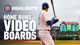 Cubs Home Runs Off of the Wrigley Field Video Boards
