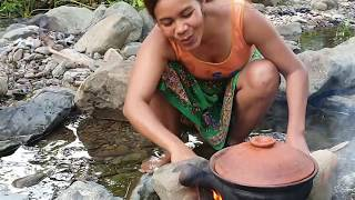 Survival Skills:find Gizzard    By Hand  - Fry   Eating Delicious #42