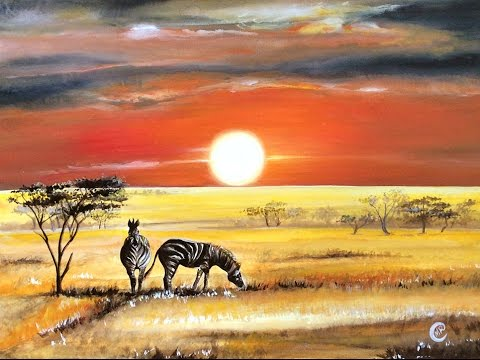 Watercolor African Safari Painting Full Video Demonstration