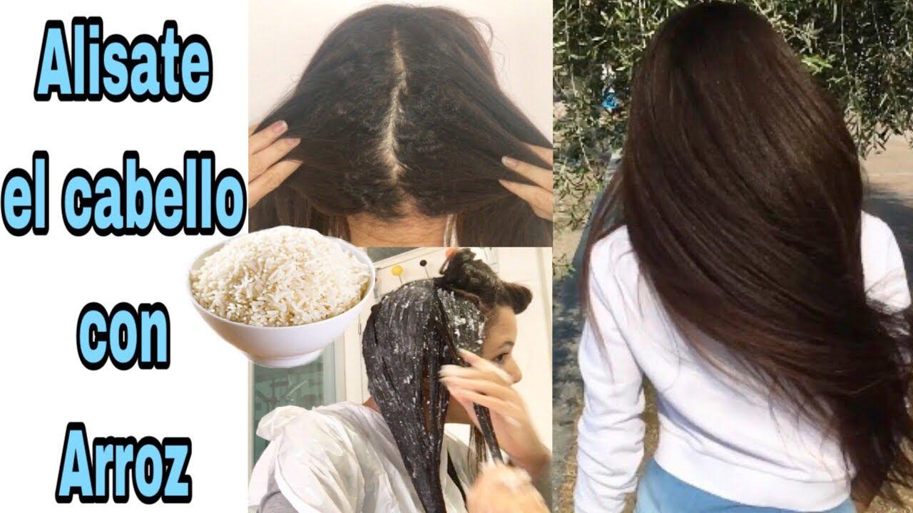 Como alisar el cabello de forma natural con arroz