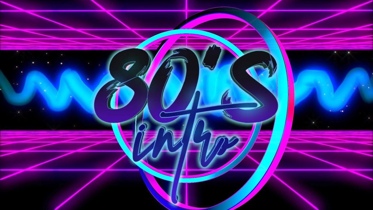 AESTHETIC 80'S RETRO INTRO TEMPLATE (NO TEXT)