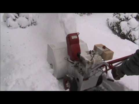 First snow with the 1972 Jacobsen 'Imperial 26' 7hp, 26