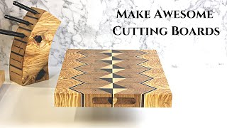 Making Super Cool Cutting Boards / End-grain Board With Bread Tray