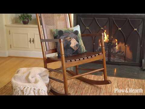 Plow /& Hearth Berkley Birch Rocking Chair with Cane Back
