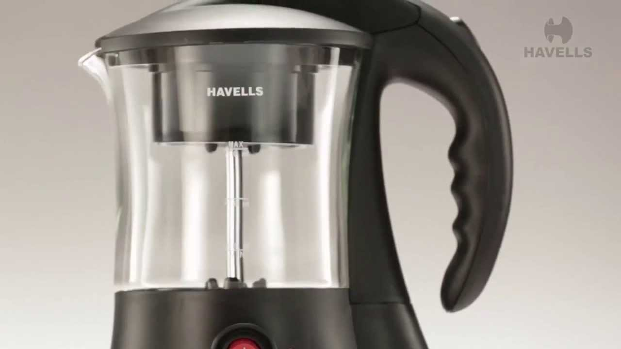 Havells Crystal Tea Coffee Maker Demo - YouTube