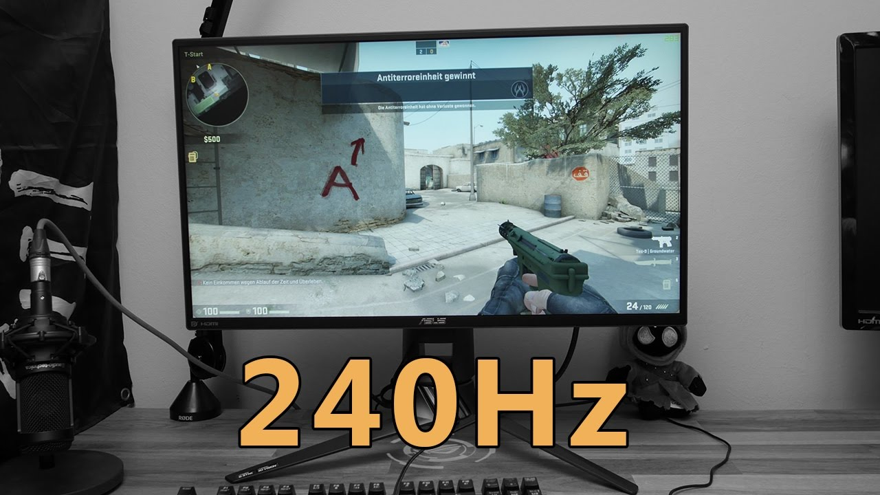 Aoc Monitor Asus Pg258q Review: 240hz Gaming Monitor [deutsch - Eng