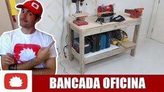Como fazer bancada para oficina #DIY | Na oficina S03E15