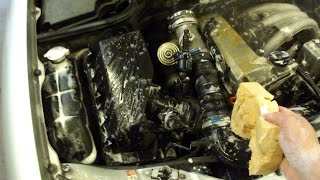 Мойка двигателя mercedes w210 engine bay washing