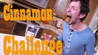 Jason Wrobel Takes The Cinnamon Challenge!