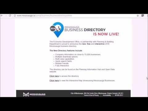 Mississauga Business Directory – Video Tutorial