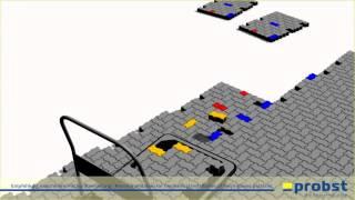 видео Способы укладки брусчатки: схемы работ