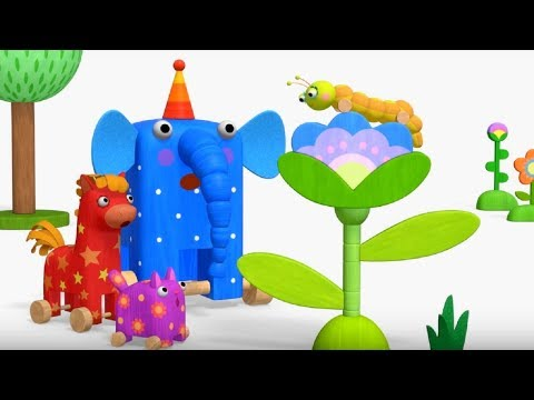 Деревяшки - Считалочка  + Бабочка - развивающие мультфильмы для самых маленьких  0-4 - Как поздравить с Днем Рождения
