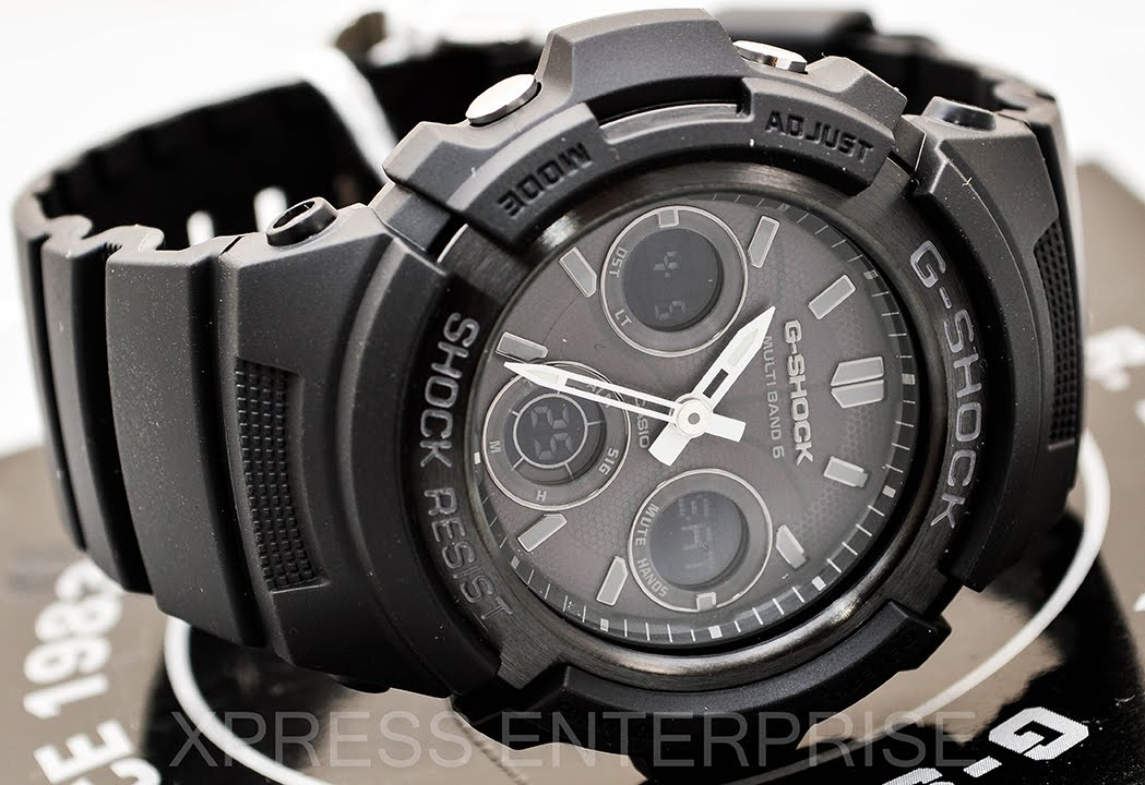 Casio Gshock Awgm100b 1a Review How To Set Time Light Display
