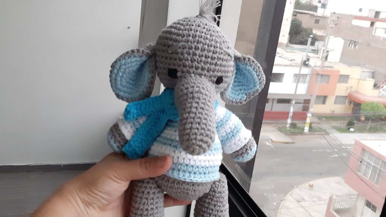 Elefante peluche, amigurumi de Two bee, patron gratis.Elephant ... | 720x1280