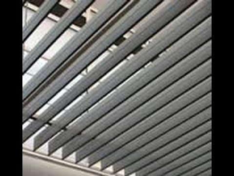 Techos lamas orientables youtube for Lamas aluminio techo