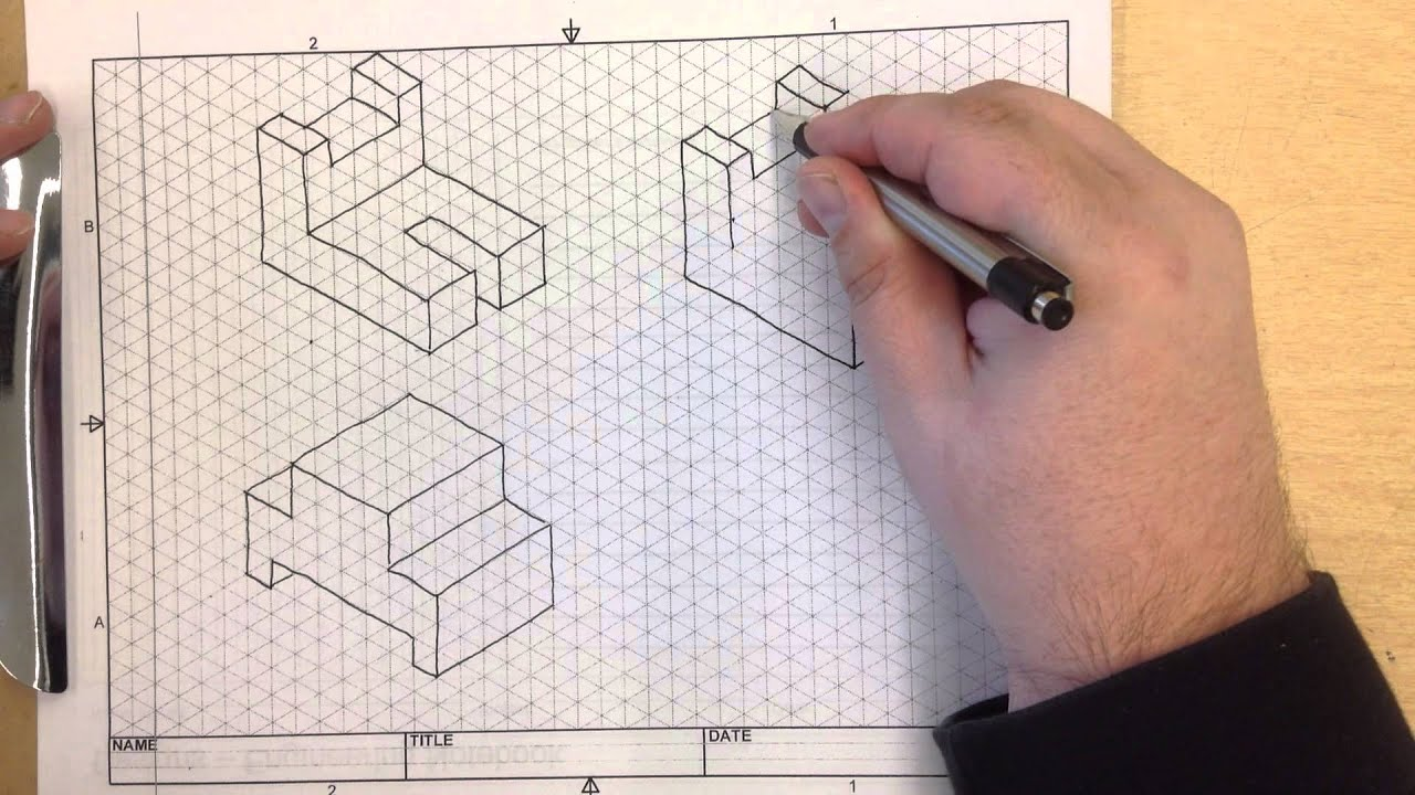 ied activity 2 1 isometric sketching 3 youtube