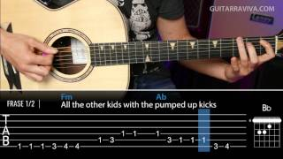 Pumped Up Kicks Cover guitarra con acordes y tabs