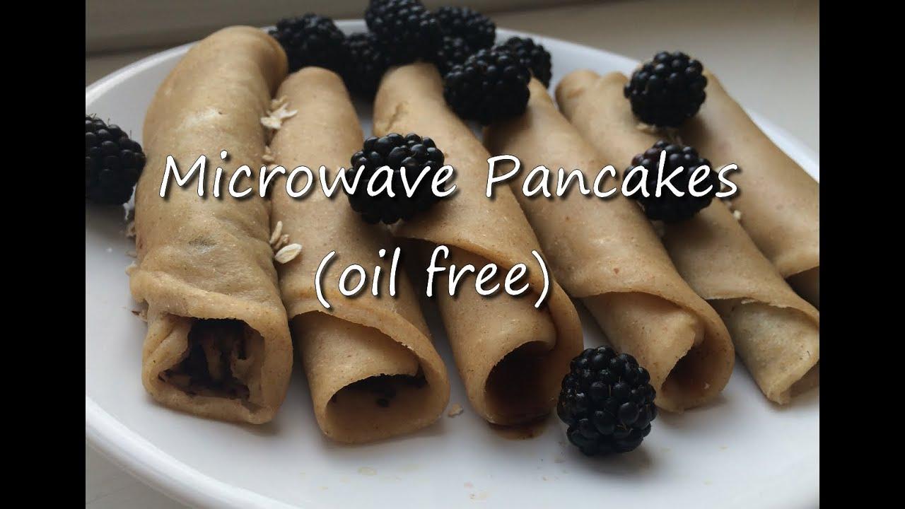 Vegan Microwave Pancakes Oil Free Recipe Hclf