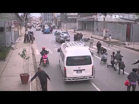 Nepal Earthquake - Visible Ground Movement