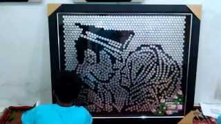MOZZLE Craft - Mozaik Koin Lukisan Wajah Mahar Pernikahan Unik #Bandar Lampung Project