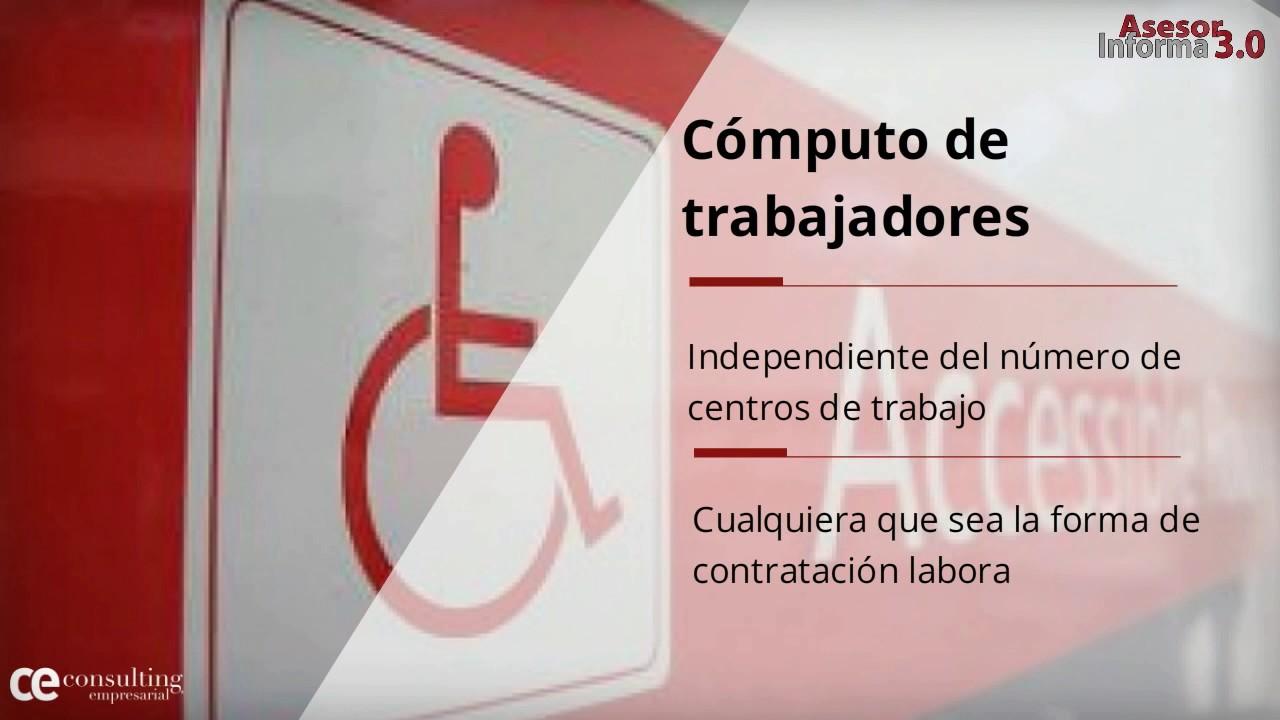 ¿Conoces la obligación de contratar a trabajadores discapacitados? | Asesor Informa 3.0 Julio