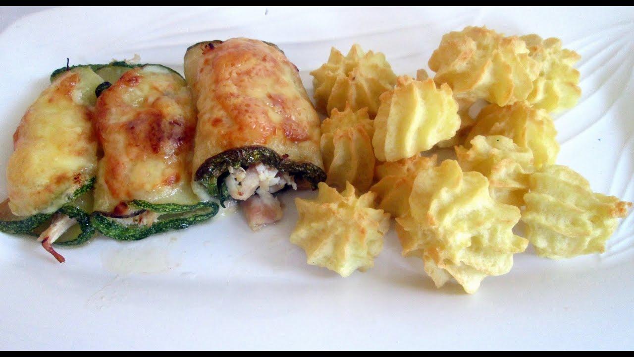 Receta: Rollitos De Calabacin (Zucchini), Pollo Y Queso ...