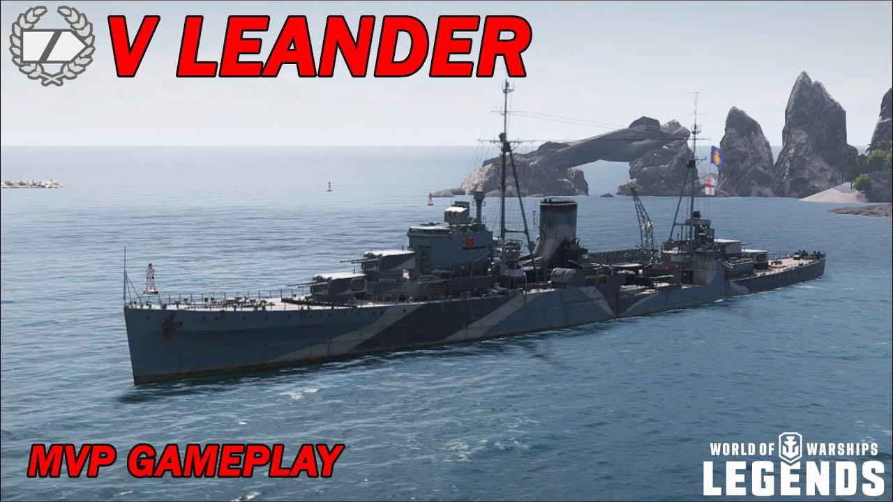LEANDER - 136.000 Schaden mit 3.400 Base XP! - World of Warships Legends - YouTube