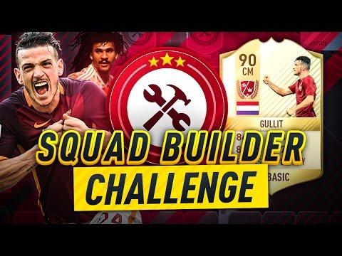 FIFA 17 - THE NEW LEGEND GULLIT SQUAD BUILDER CHALLENGE!!!
