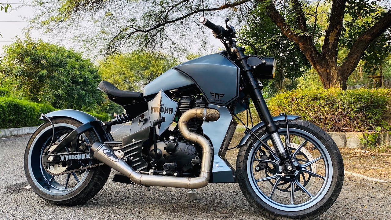 Royal enfield modified   Bike modification   Into Harley Davidson   Yoddha🔥🔥   Vampvideo  