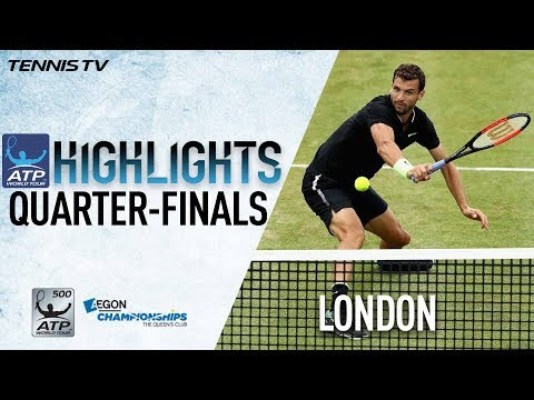 Highlights: Dimitrov, Lopez Battle Into SF Friday At Queen's 2017