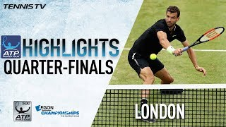 Watch Friday highlights from the Aegon Championships, featuring win...