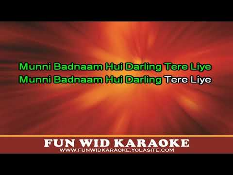 Munni Badnaam Hui Karaoke | Malaika Arora Khan | Dabangg | T-Series