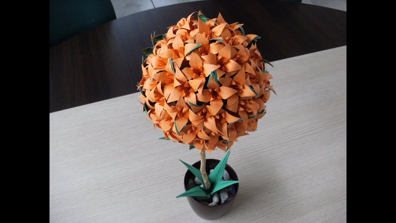 3d Origami Flower Ball Lily Iris How To Make Youtube